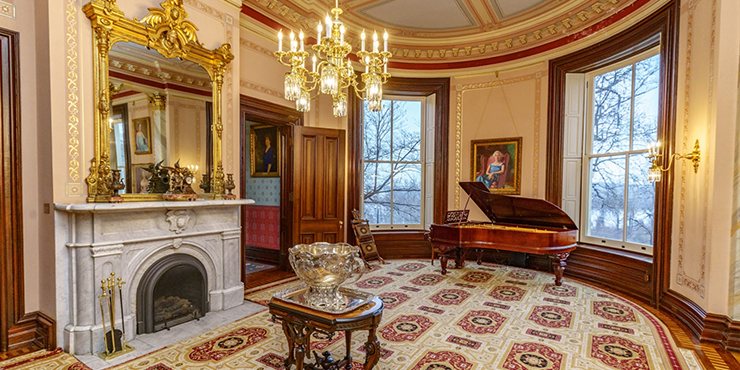 Parlor at the Governor's Mansion