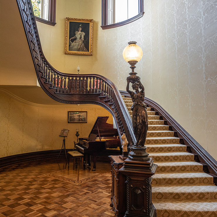 Great Staircase at the Governor's Mansion