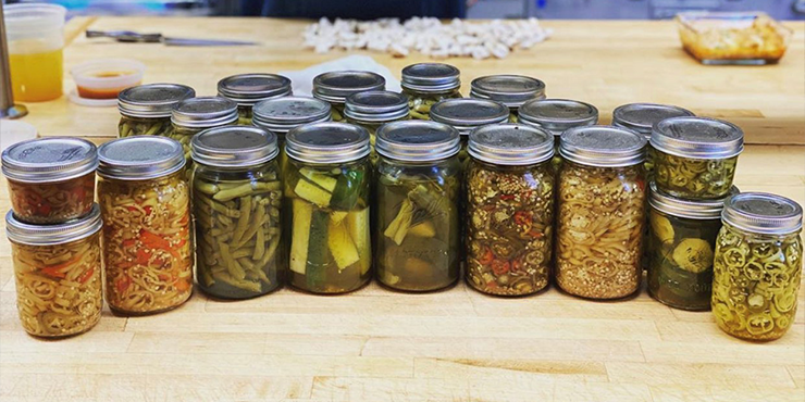 Canned goods from the Mansion's garden
